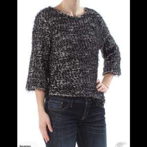 Vince Camuto Black Eyelash Knit Sweater Size XS